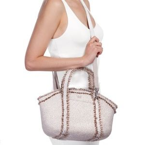 New Eric Javits Straw Cross Body Bag